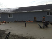 Eastwind Construction for Foundations, Pads, and sidewalks