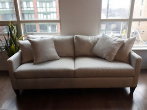 Couch Sofa Ethan Allen Monterey 3 Seater Sofa  Couch