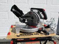 Scie à onglets avec banc portatif / Compound mitre saw & bench