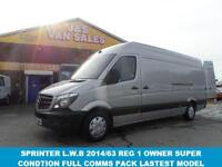 2013 63 MERCEDES-BENZ SPRINTER 313 CDI 136 BHP 4MTS L.W.B FACELIFT MODEL IN RELF