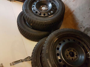 205/55/16 nexen winter tires on rims