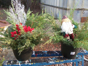 Various Style Christmas Planters $10 EACH