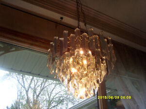 Indoor lighting   VINTAGE LUCITE CHANDELIER - $300