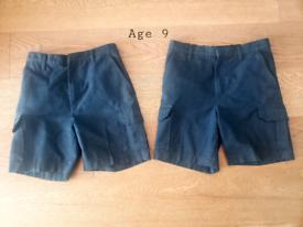 Boys School shorts age 9