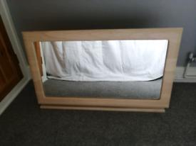Dressing table tilting mirror beech wood effect. VGC
