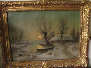 Early signed winter landscape