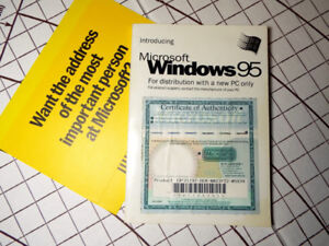 MICROSOFT WINDOWS 95 Operating System