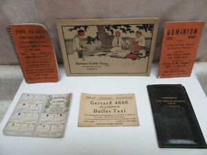 SIX TORONTO ITEMS 1913 CAL., DOMINION COAL, TAXI, JOLLEY, ETC.