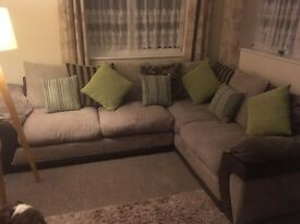 Corner sofa bed and swivel chair