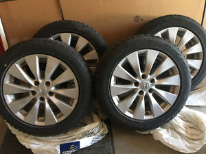 Honda Original Mag Wheels on Blizzak Winter Tires - 215/55/R17