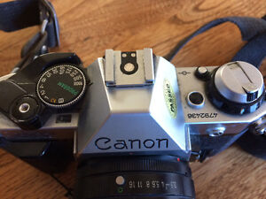 Canon AE1 35mm Film Camera with 2 lenses London Ontario image 3