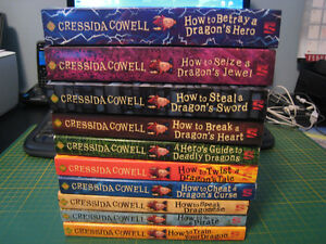 How To Train Your Dragon books 1-6 & 8-11 (by Cressida Cowell)