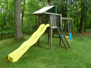Backyard play centre with swings, slide and fort - Used