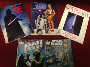 STAR WARS GLASSES ,BOARD GAME, TOY, 3-ALBUM, 4-BOOK AND RECORD
