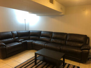 Very beautiful dark brown sectional couch for sale!!