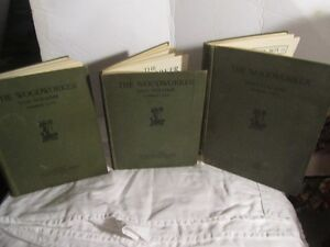33## 3 Books 1926-1928-1935 The Woodworker by Evan Brothers Limi