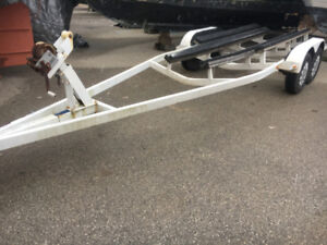 24  Foot Tandem Axle 4 Bunk Boat Trailer With Brakes