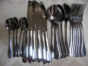 Stainless-Steel Cutlery - Service for 6 - Brand New:  $10