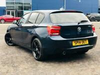 2014 14 BMW 1 SERIES 2.0 118D SPORT FSH 73K MILES LONG MOT £30 TAX DIESEL