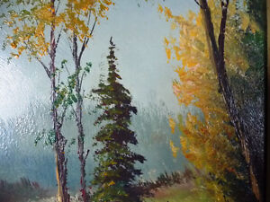 """Oil Painting by Listed Artist Paul Hyttinen """"A Forest Path"""" 1950 Stratford Kitchener Area image 4"""