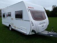 Dethleffs DL550 Camper German built luxury 4 berth touring caravan for sale 2005 with end bed room