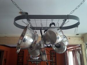 Heavy Duty Pot Rack in Mint Condition (originally paid: $325)