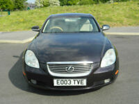 2003 (03) Lexus SC 430 4.3 Auto Convertible Finished in Blackish Red Mica