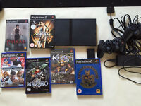 Ps2 slim , 6 games , 2 controllers