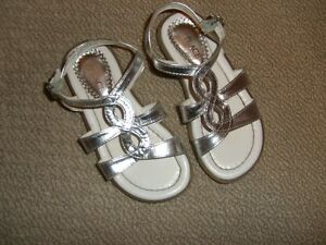 The Children's Place Sandals -size 10 Silver Metallic
