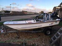 Boat. 13 ft dell quay dory. 25hp 2stroke Yamaha trailer