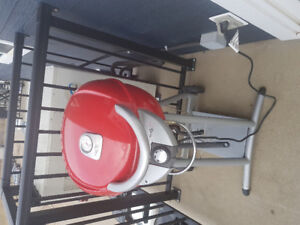Red  electric  barbecue....