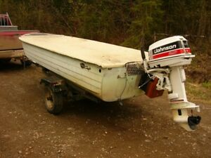 MirroCraft , 16ft runabout boat w/ 25H outboard motor and