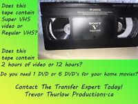 SUPER VHS MEMORIES TO DVD! PROFESSIONALTRANSFERS!