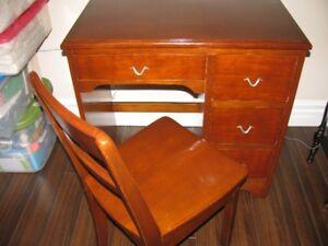 Antique(1961)Student Desk--Childs Antique(1948)Rocking Chair