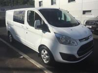 Ford Transit Custom 2.0 ( 130PS ) Double Cab-in-Van 290 (LWB) Limited Auto New