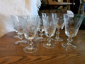 Crystal sherry glasses