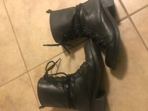 Black military style boot