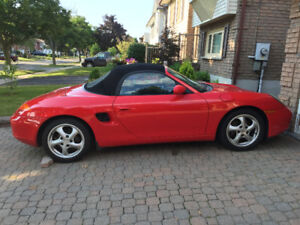 RED PORCHE BOXSTER/MANUEL/RUN GREAT/CERTIFIED