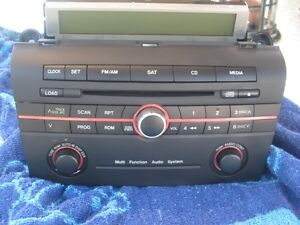 06 07 Mazda 3 Radio Stereo Sat CD Disc Player BR9E 66 AR0