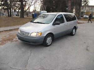 2003 Toyota Sienna CE Minivan, Van CERTIFIED ONLY 90000KM !!!!!