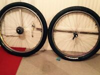 26 inch bike tyres pumped front back