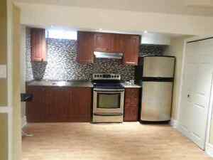 One Bedroom, spacious Basement Apartment for rent immediately in