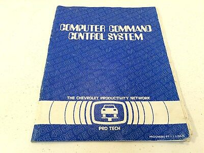 1980 Chevrolet Computer Command Control System Manual Programs Pt 1 2 3  80 9