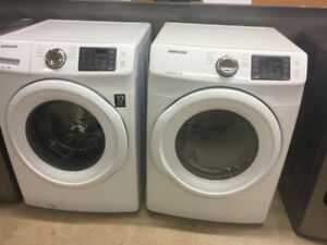 NEW  SAMSUNG  WASHER  AND  DRYER