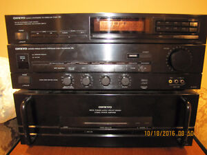 Onkyo power amp and pre amp and tuner West Island Greater Montréal image 1