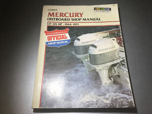 1964-71 Mercury Mariner Outboard 3.9-135 HP Shop Manual 1-6 cyl