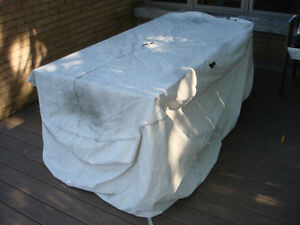 TORN Cover for Patio Table & Chairs Set TORN