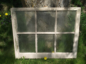 6 Pane Vinatge Wood Frame Windows
