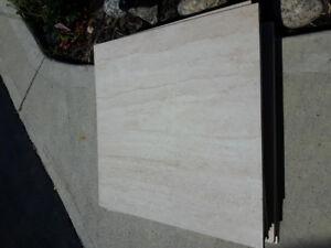 Designer Italian ceramic flooring 16.5 in by 16.5 in 12 piece