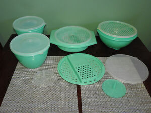 Various jadite TUPPERWARE pieces - ALL for $40